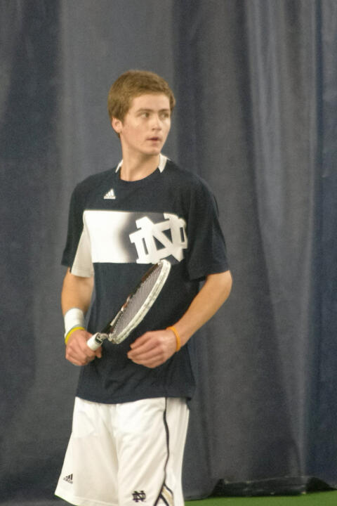 Junior Quentin Monaghan picked up a huge, 6-1, 6-1, victory over No. 6 Jared Hiltzik Sunday.