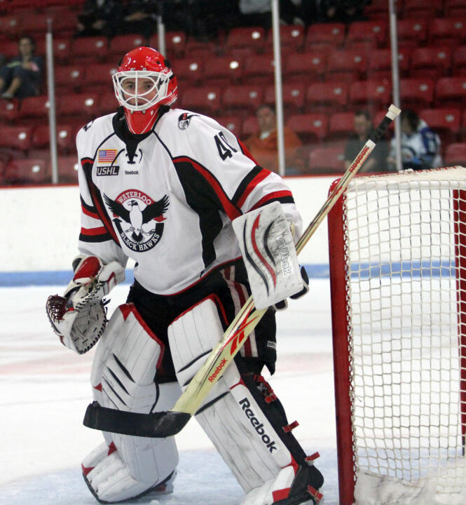 Freshman goaltender Cal Petersen brings his puck-stopping skills to Notre Dame from the USHL's Waterloo Black Hawks.