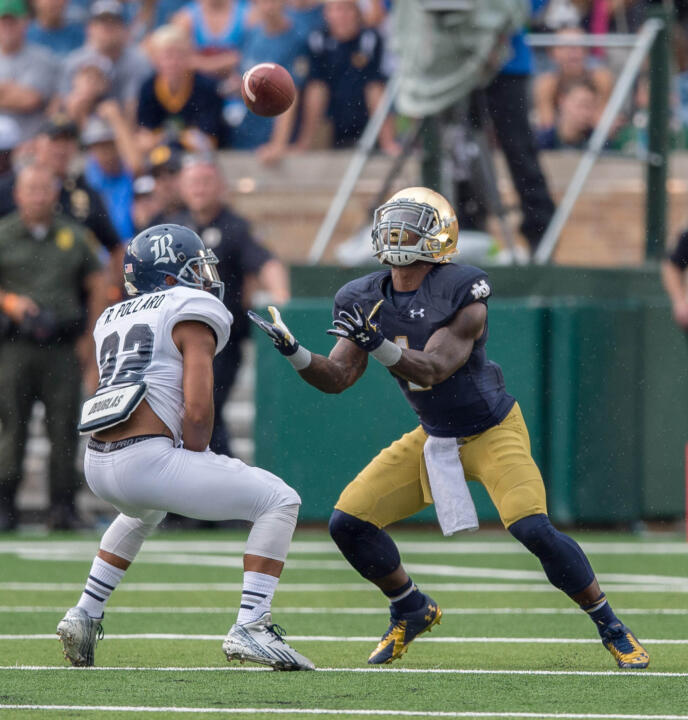 Greg Bryant had three of Notre Dame's five punt returns against Rice.