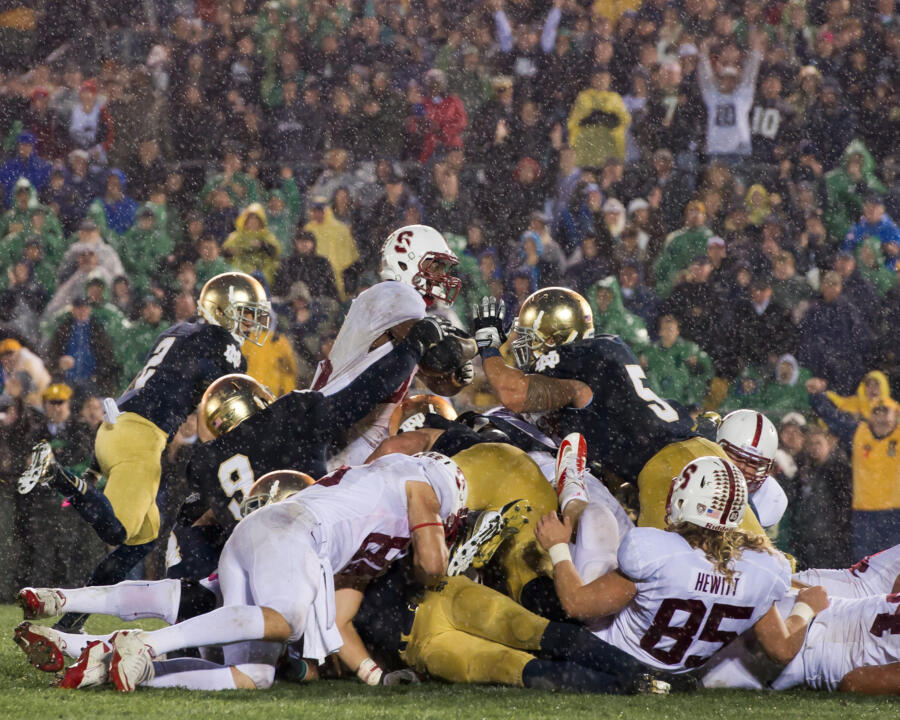 Since 2010, Notre Dame ranks No. 2 nationally in points/red-zone drive and is second in the nation against red-zone rushing touchdowns.