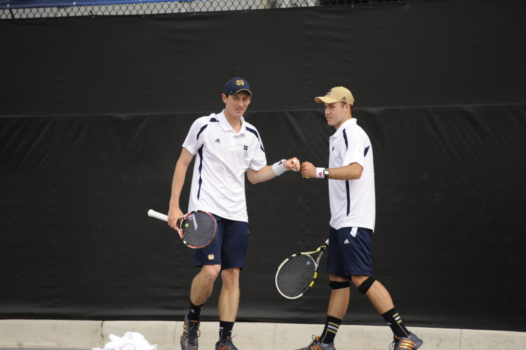 Alex Lawson (left) and Billy Pecor (right) are on to the quarterfinals of the main doubles draw at the ITA All-American Championships.