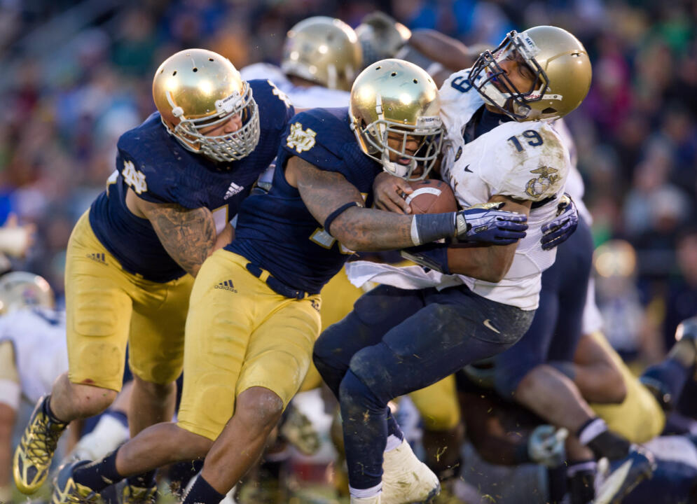A Notre Dame-Navy game is always a physical battle.