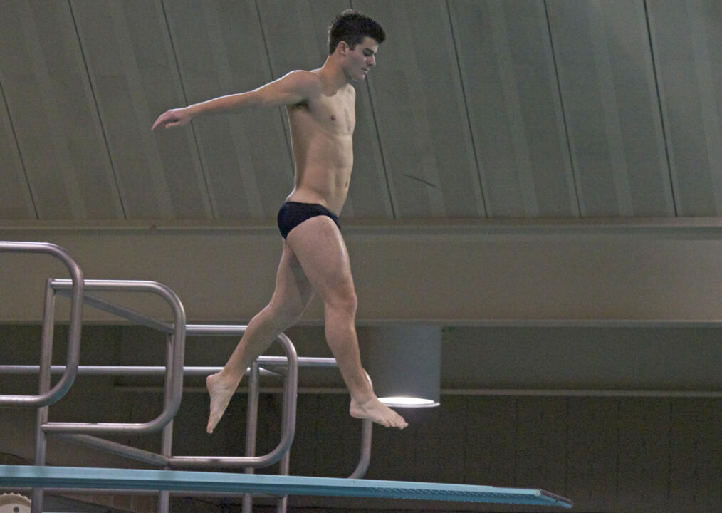 Joe Coumos finished first in the 1-meter and was second in the 3-meter competition Friday night against Georgia Tech and South Carolina.