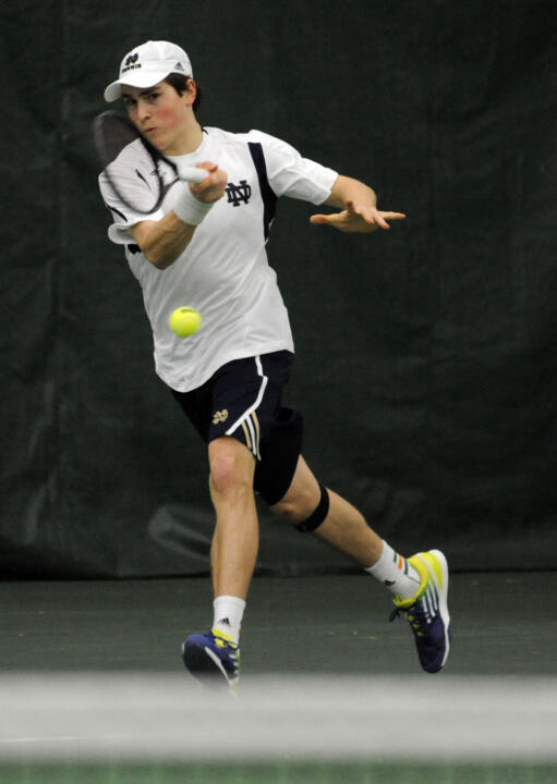 Junior Eric Schnurrenberger is into the quarterfinals in both the singles and doubles draws at the USTA/ITA Midwest Regional Championships.