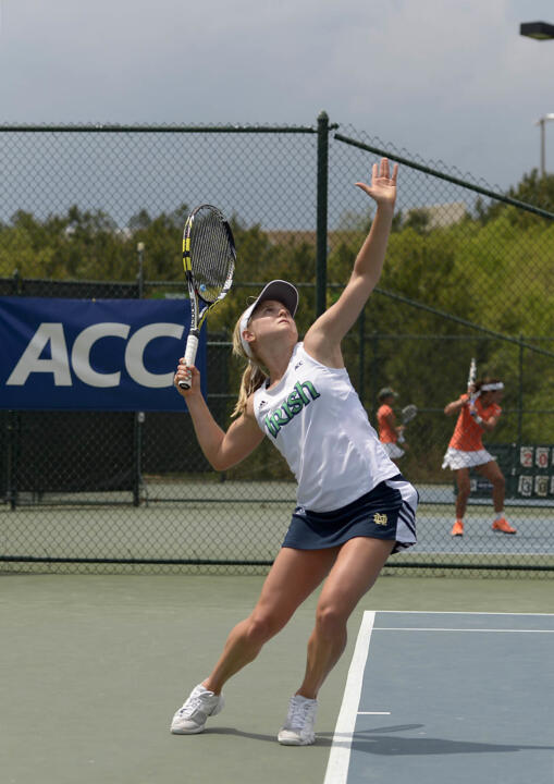 Monica Robinson (pictured) and Quinn Gleason will head into the third round of doubles and second round of singles competition Saturday at the USTA/ITA Midwest Regionals.