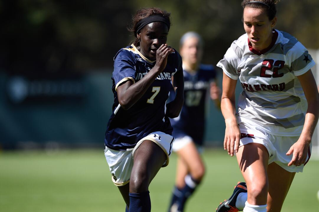 Freshman forward Karin Muya scored her second career goal just 45 seconds into Sunday's game against Miami, adding an assist later in the match to spark a 5-0 Notre Dame win at Alumni Stadium