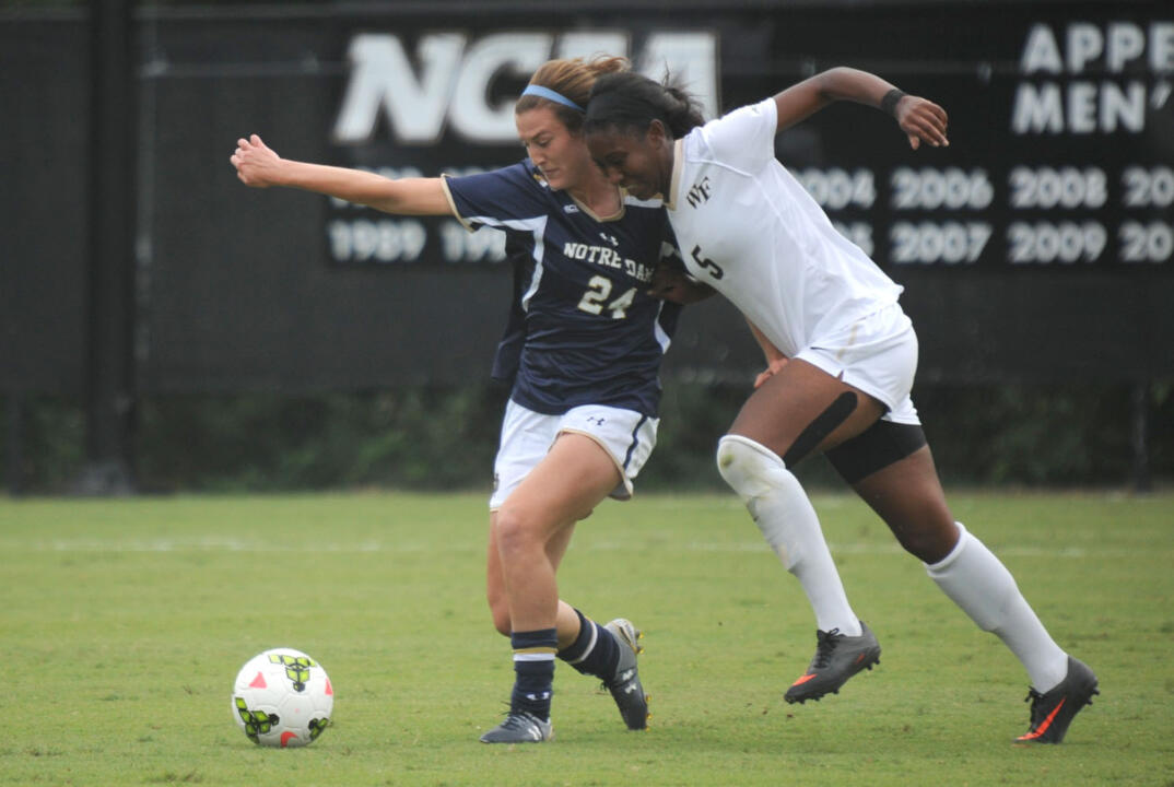 Junior defender/tri-captain Katie Naughton was named the espnW Soccer Player of the Week in recognition of her solid performance in Notre Dame's two ACC wins last weekend