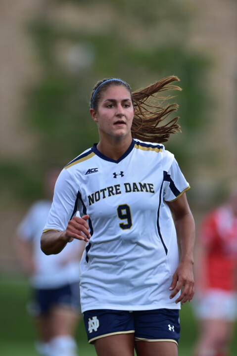 Senior forward Lauren Bohaboy was named co-ACC Women's Soccer Player of the Week after scoring both Notre Dame goals last weekend