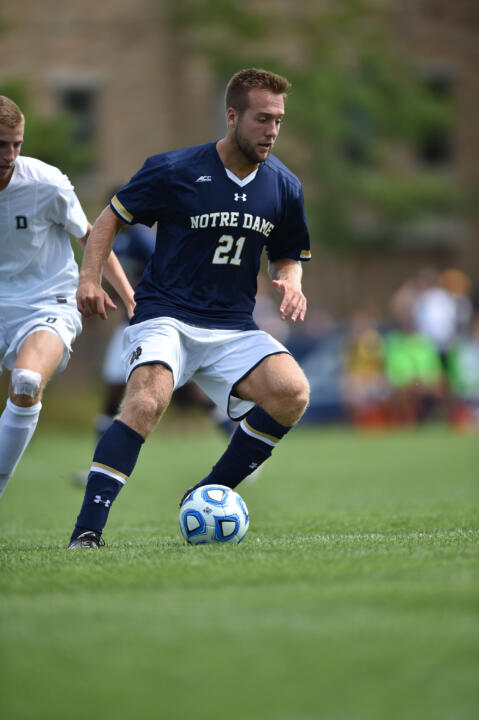 Vince Cicciarelli tallied Notre Dame's second goal in last season's 2-0 win over Pitt.