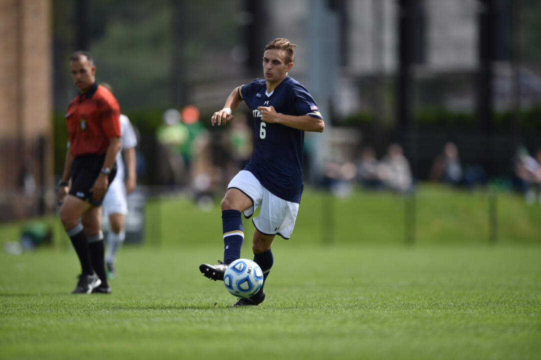 Max Lachowecki put Notre Dame up 1-0 in the 37th minute of last season's 1-1 draw with Northwestern.