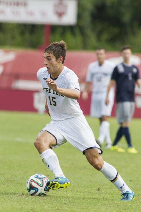 Evan Panken put Notre Dame up 1-0 in the 37th minute.