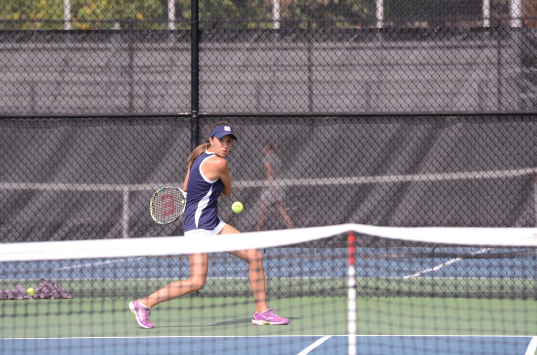 Julie Vrabel and teammate Allison Miller are onto the quarterfinals in the main doubles draw at the USTA/ITA Midwest Regional Championships.