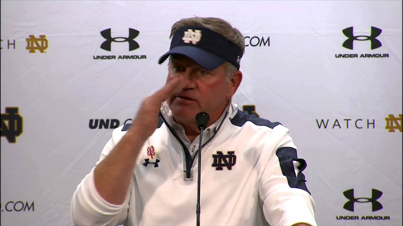 Coach Kelly Post Game Press Conference - North Carolina
