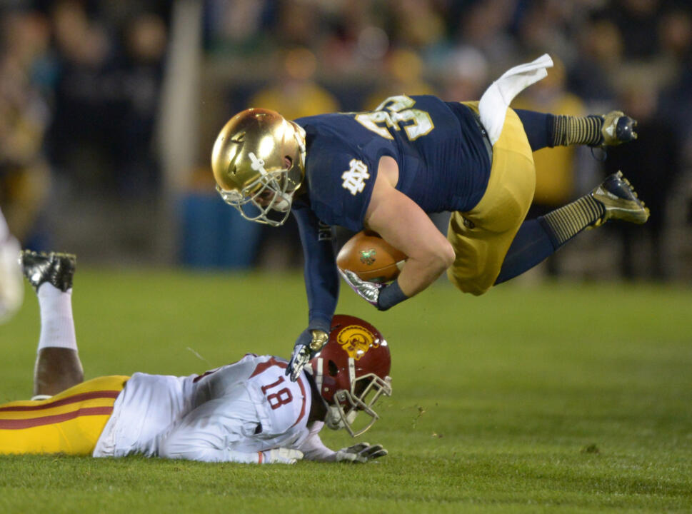 The Irish topped USC, 14-10, last season at Notre Dame Stadium.