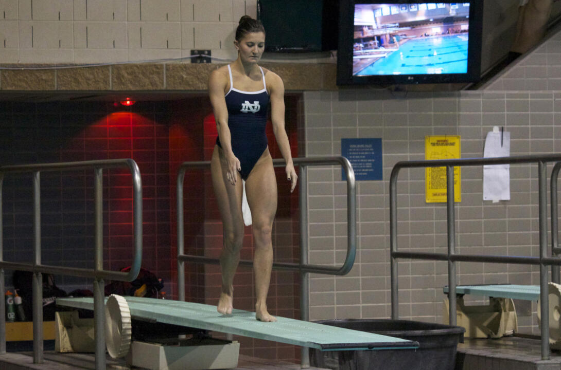 Junior diver Emma Gaboury won the 3-meter and finished second on the 1-meter Friday night against Illinois.