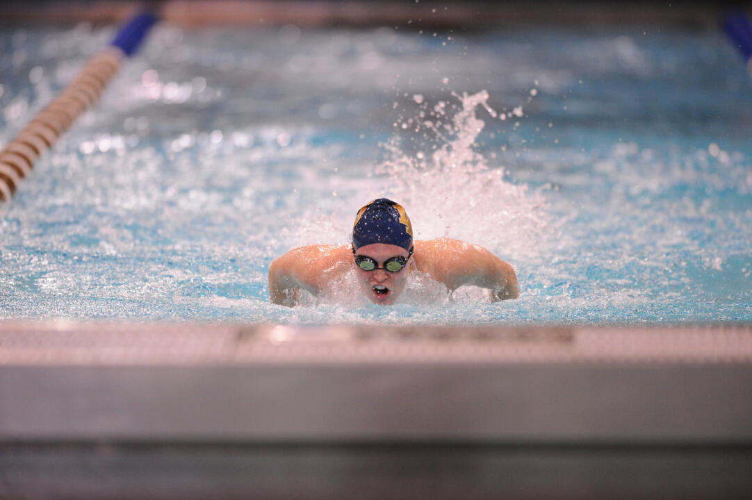 Junior Catherine Galletti is back in the pool and competing for the Irish after double hip surgery last year.