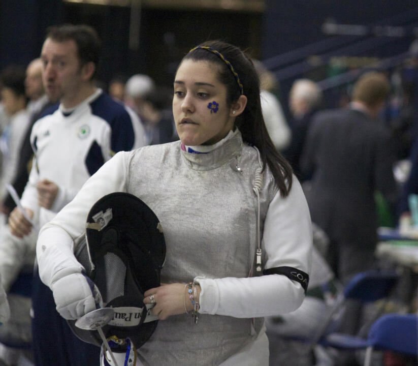 Veteran foilist Nicole McKee earned one of two second-place finishes for the Irish Saturday.