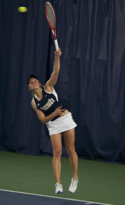 Mary Closs notched a singles win in round robin play at the WMU Super Challenge on Sunday.