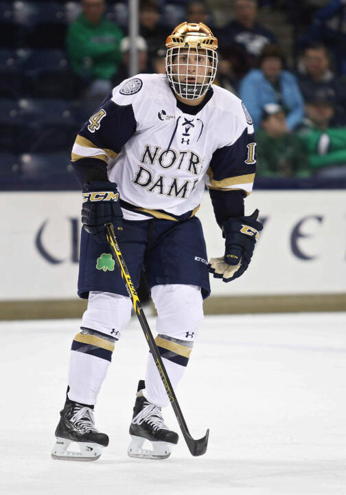 Junior Thomas DiPauli scored twice in Notre Dame's 3-2 win over Vermont.