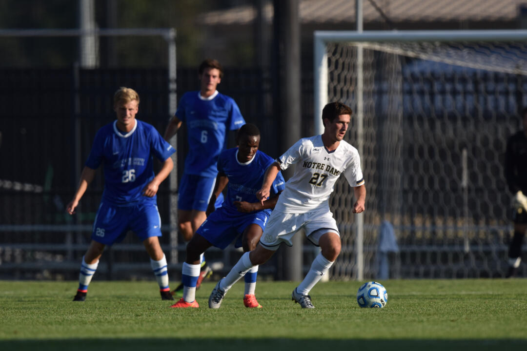 Patrick Hodan scored the first goal in the 1-1 draw at Virginia on Sept. 21.