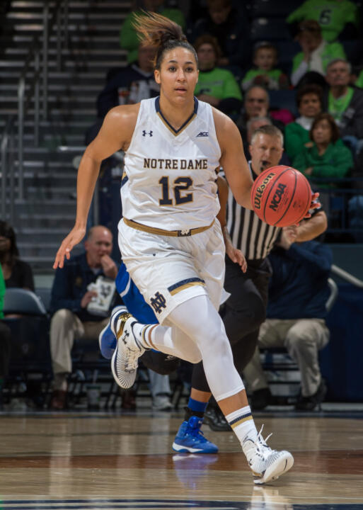Sophomore forward Taya Reimer collected 19 points and 13 rebounds in Notre Dame's 81-62 win over Michigan State last year at Purcell Pavilion.