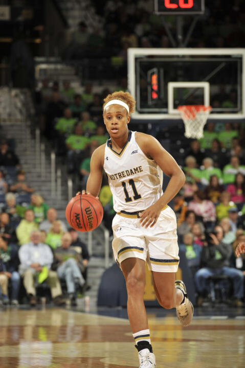Notre Dame freshman forward Brianna Turner was named the Atlantic Coast Conference Freshman of the Week today after posting game highs of 29 points, nine rebounds and three blocks in her college debut on Nov. 14 against UMass Lowell.