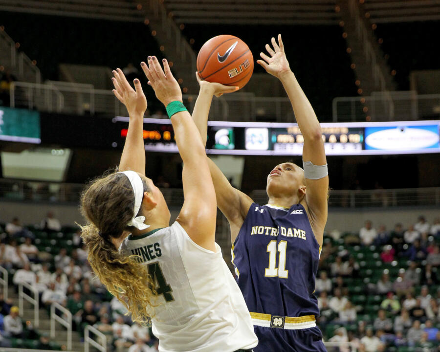 For the second time in as many weeks during her college career, Notre Dame forward Brianna Turner was chosen as the ACC Freshman of the Week, the conference office announced today.