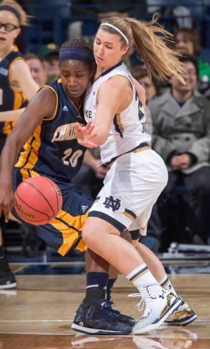 Junior guard Hannah Huffman has scored a career-high eight points twice in Notre Dame's first three games this season, including Friday's 88-53 win over Chattanooga at Purcell Pavilion.