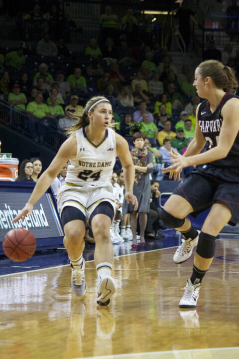 Junior guard Hannah Huffman is averaging career highs of 6.4 points, 4.2 rebounds and 2.0 steals per game this season.