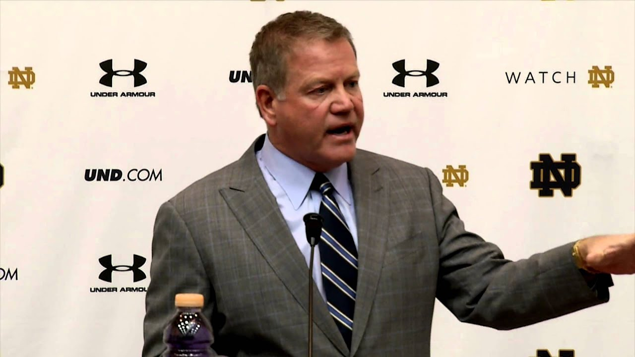 Brian Kelly Weekly Press Conference - Northwestern