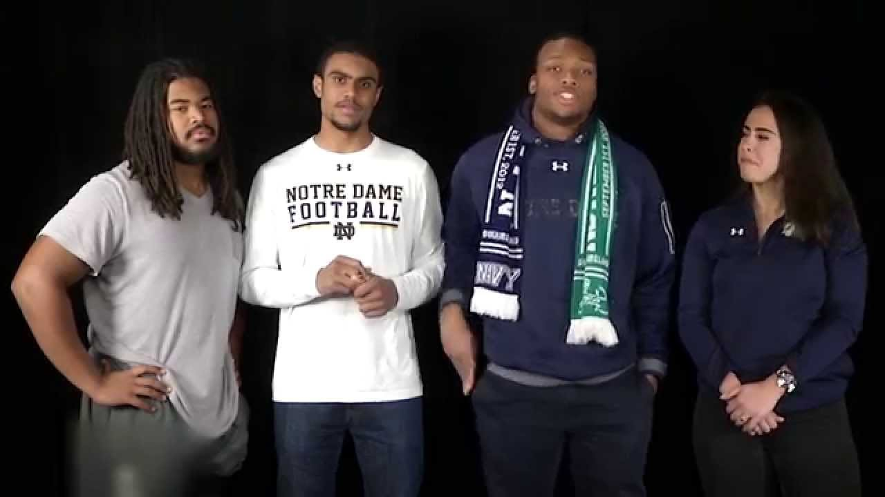 Senior Day Message From Notre Dame Football And Student Government