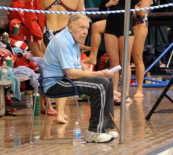 Dennis Stark coached swimming & diving student-athletes from 1958-85.