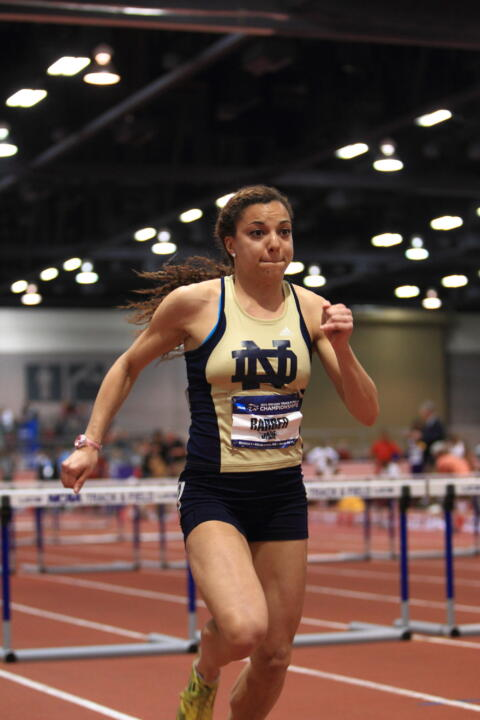 Jade Barber leads the Irish women's track and field squad, which hopes to continue its rise as a member of the ACC.