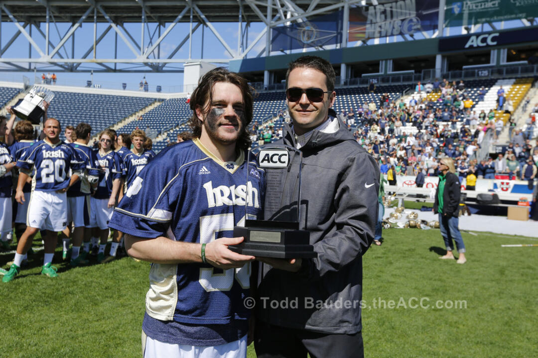 Matt Kavanagh was named MVP of the 2014 ACC Championship after helping the Irish win the title.