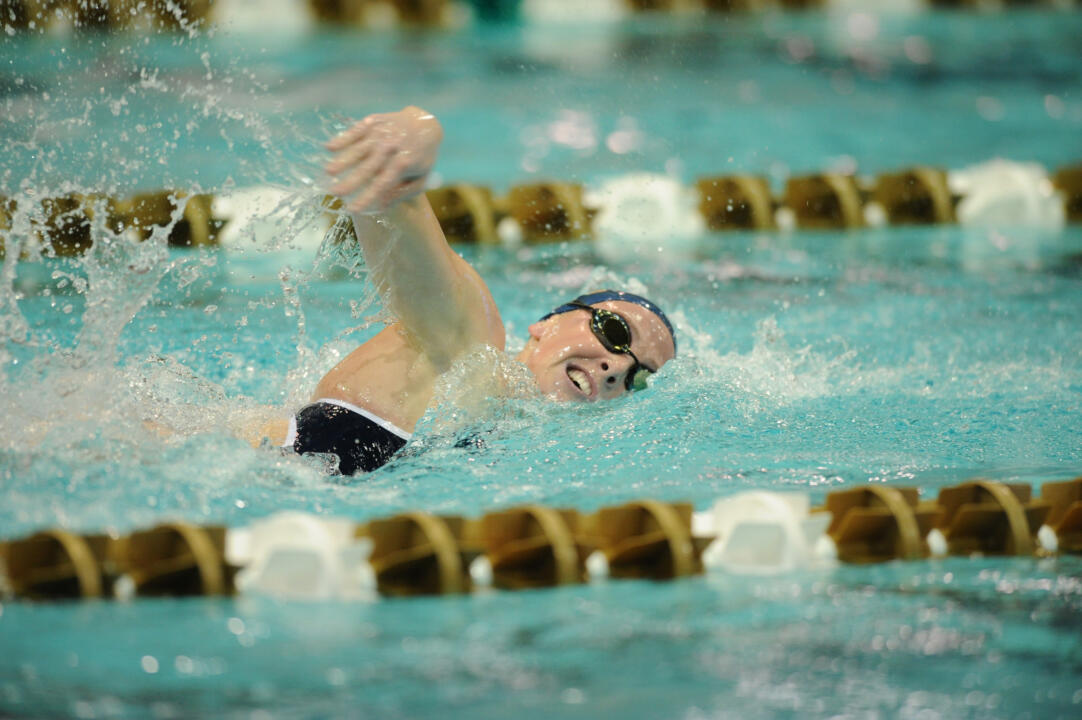 Senior Bridget Casey claimed eighth in the 400 IM Friday night at the Texas Invitational.