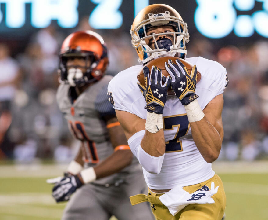 Will Fuller tied for second in the nation with 14 TD catches during the regular season.