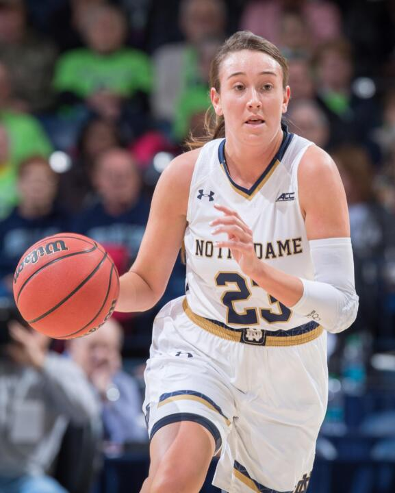 Junior guard/tri-captain Michaela Mabrey came off the bench to score 10 points against Connecticut in last year's NCAA championship game in Nashville.