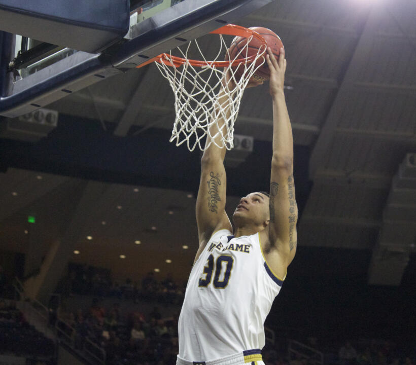 Junior forward Zach Auguste leads the nation in field goal percentage (.700).