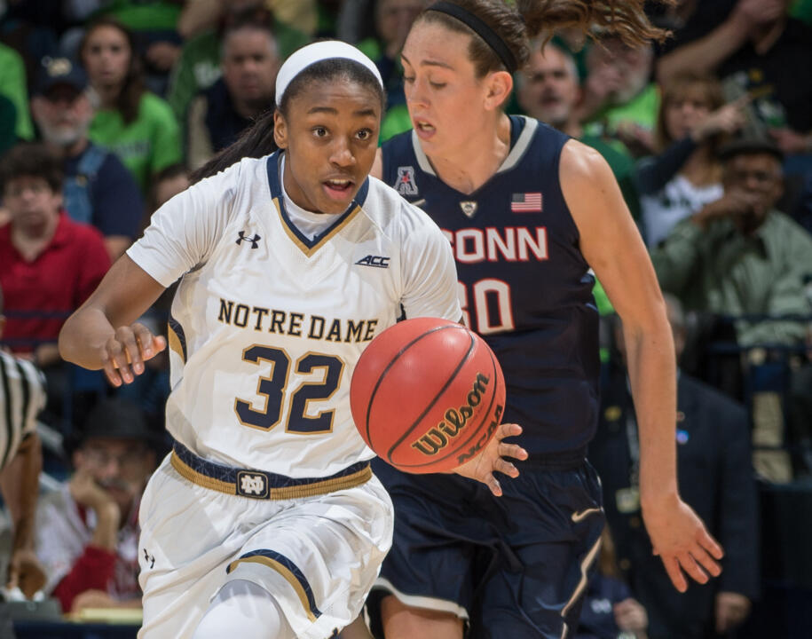 Junior guard Jewell Loyd and her Notre Dame teammates will look to take lessons learned from Saturday's loss to #3 UConn when they return to action Wednesday at #25/24 DePaul.