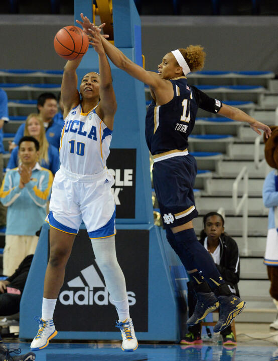 Notre Dame's Brianna Turner (right) was chosen as the USBWA National Freshman of the Week on Tuesday, one day after being named the ACC Freshman of the Week.