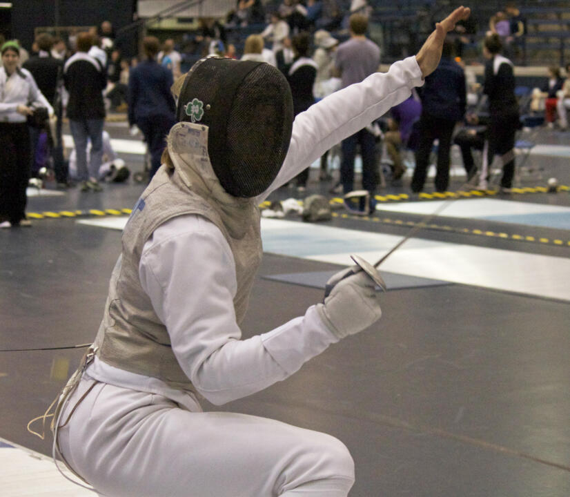 men's foil captain Ariel DeSmet is one of four former NCAA combatants for the Irish men's team competing Saturday.