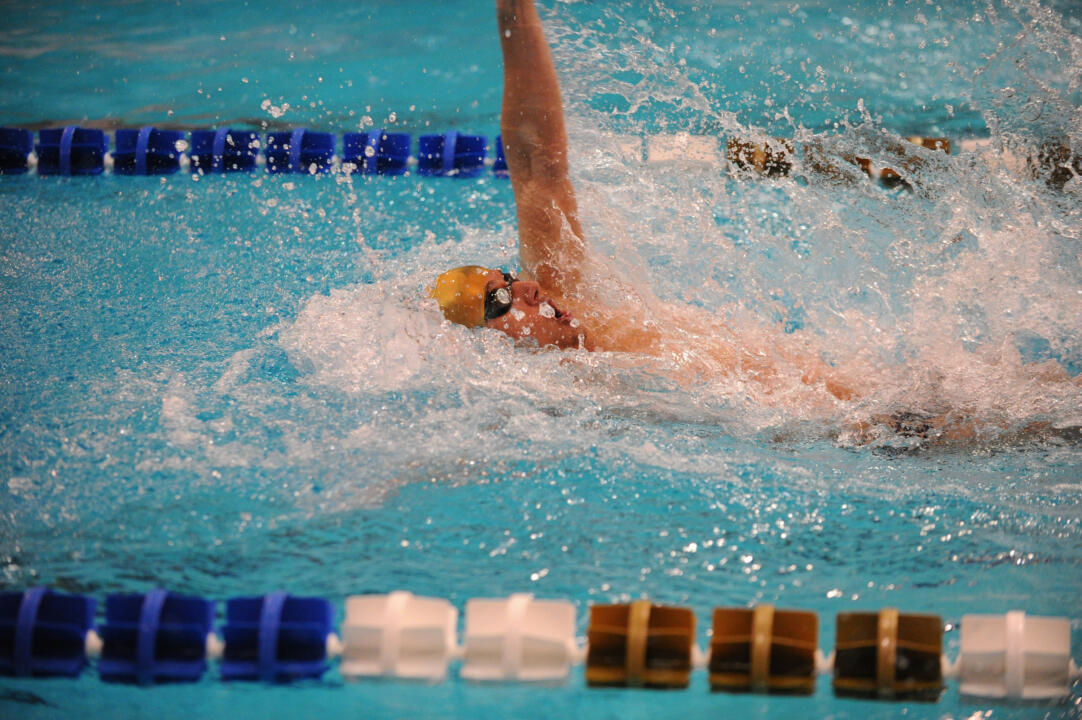 Zach Stephens was one of several swimmers who punched their ticket to NCAAs at the Hawkeye Invite last month.