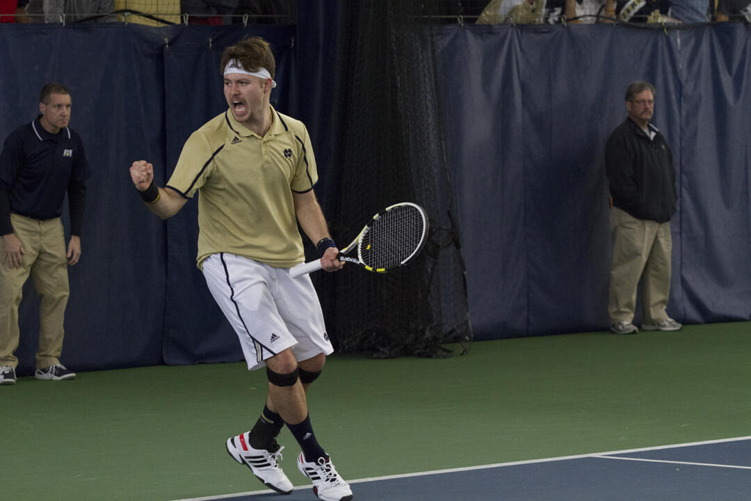 Senior Billy Pecor clinched Notre Dame's 4-3 win over Kentucky with a victory at No. 5 singles.