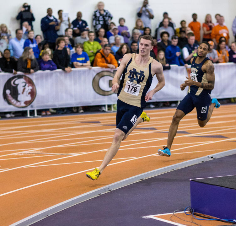 Senior Chris Giesting broke the Notre Dame record in the 600 meters by nearly two seconds.