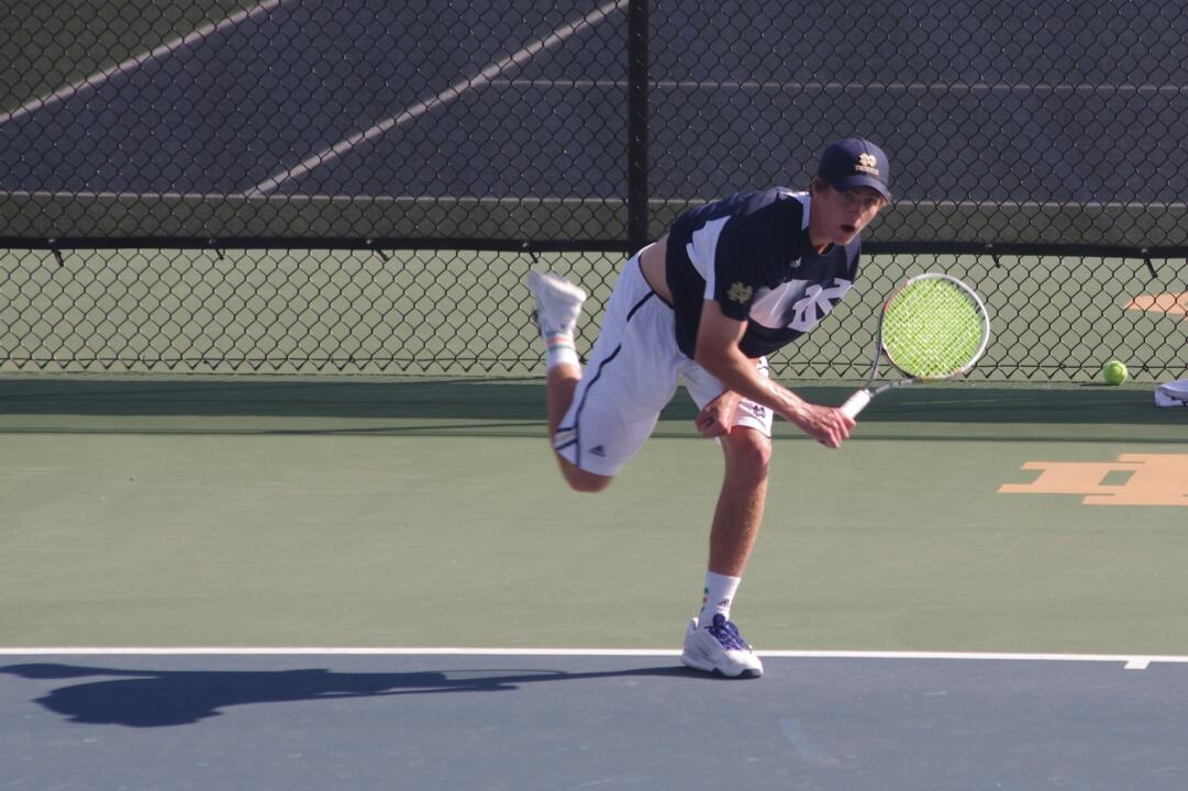 Junior Quentin Monaghan ranks No. 37 in the ITA singles rankings to start the spring dual season.