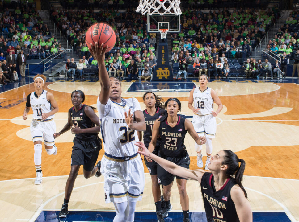 Jewell Loyd scored a game-high 20 points in Notre Dame's 74-68 win over Florida State Friday night at Purcell Pavilion.