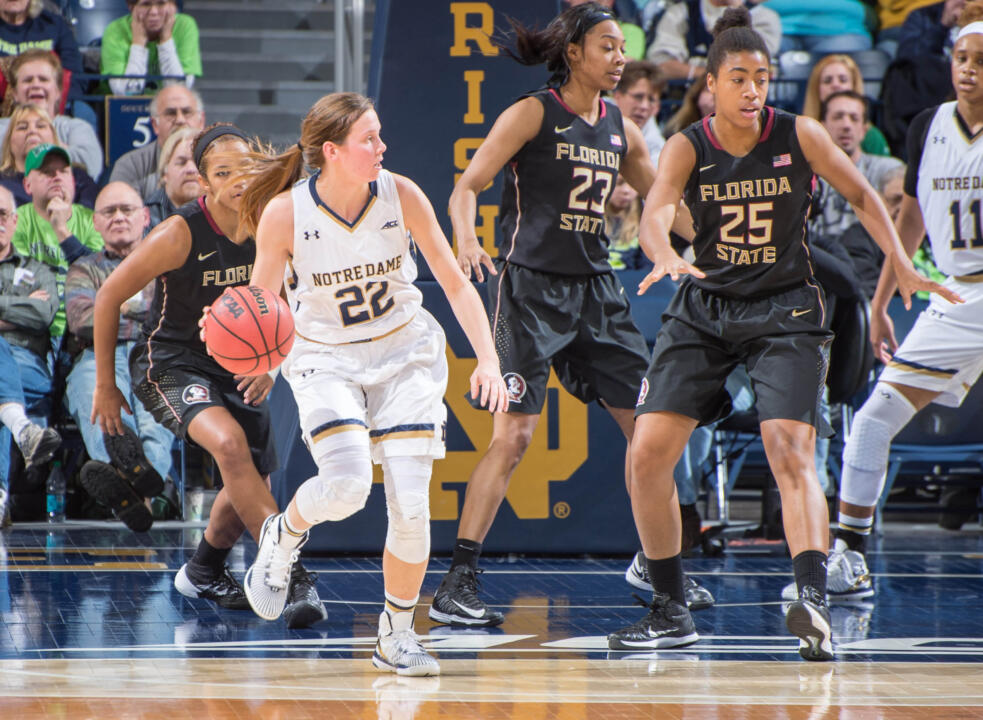 Senior guard Madison Cable led by example for Notre Dame on Friday night against Florida State, matching her uniform number with 22 minutes of tough, gritty basketball in a 74-68 Irish win.