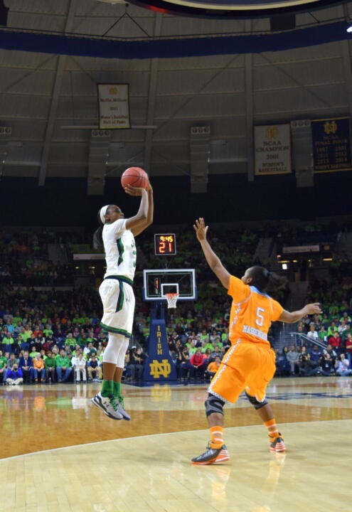 Jewell Loyd scored a game-high 17 points as #6/5 Notre Dame rolled past Clemson, 74-36 on Saturday afternoon.
