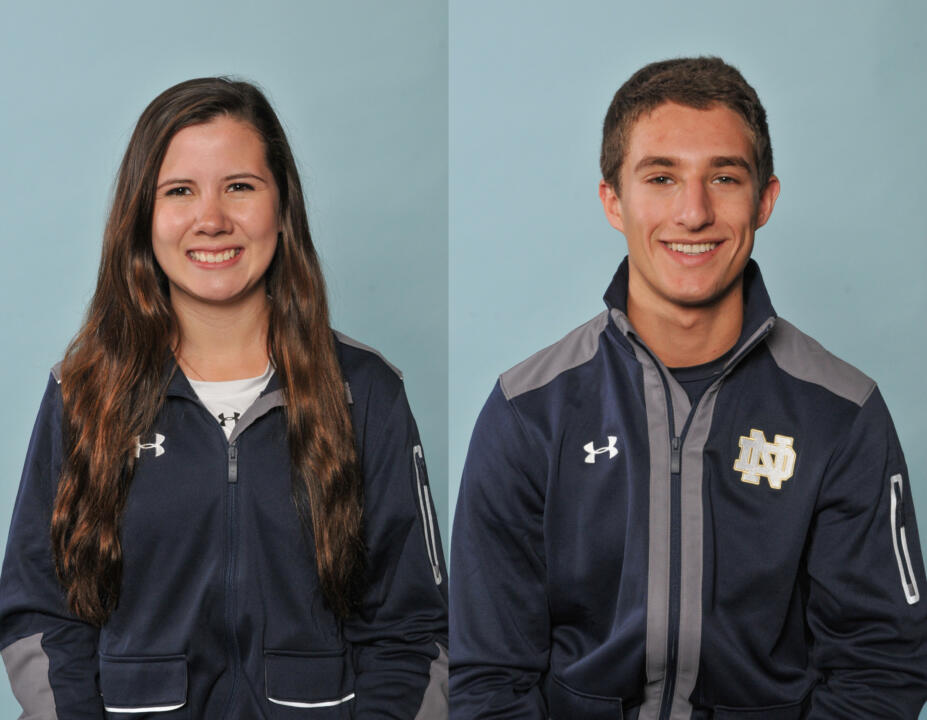 Ashley Severson (L) and Jonah Shainberg (R) both earned ACC Fencer of the Week Accolades the conference office announced.