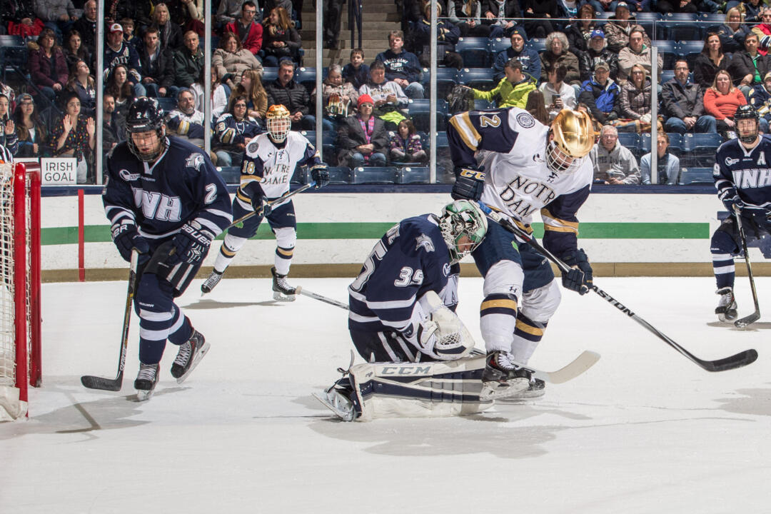Sam Herr and the Irish scored two more power play goals on Friday night, but UNH came out on top.